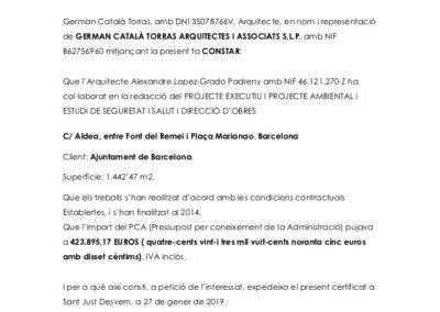 REURB C/ ALDEA. BCN